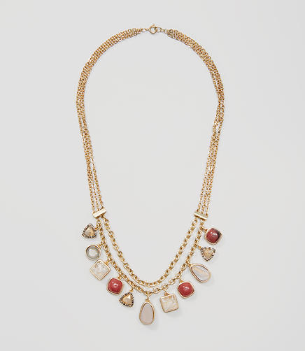 Image of Multistrand Stone Necklace