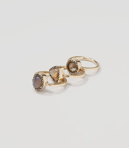 Image of Pave Stone Ring Set