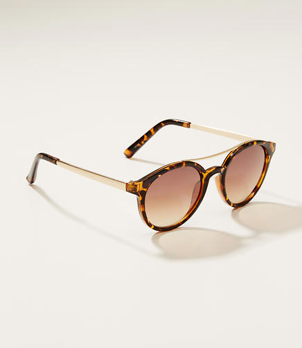 Image of Double Bridge Round Sunglasses