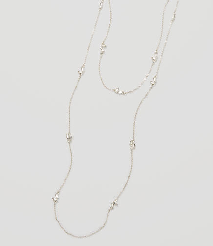 Image of Baguette Crystal Station Necklace