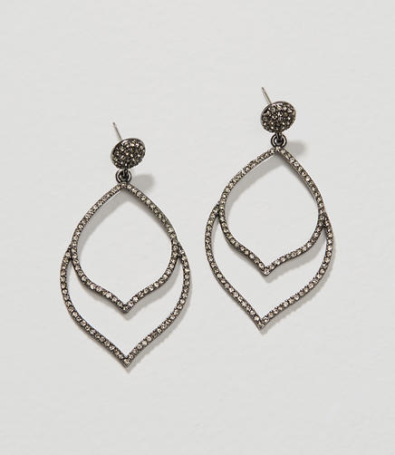 Image of Modern Pave Chandelier Earrings