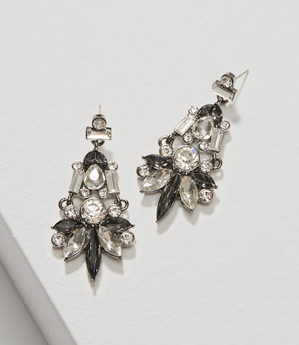 Image of Crystal Baguette Chandelier Earrings
