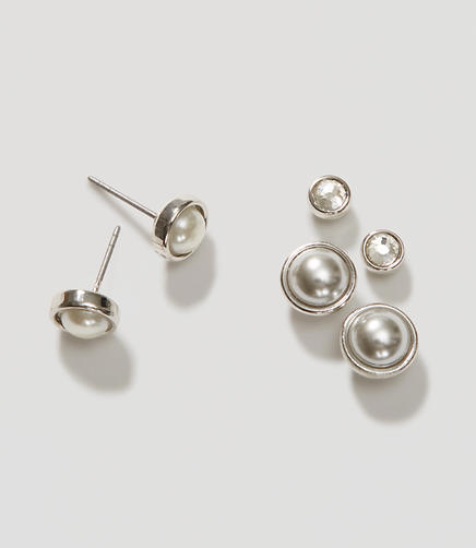 Image of Forever Pearl Stud Earring Set