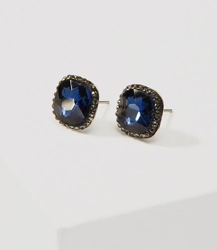 Image of Faceted Crystal Stud Earrings