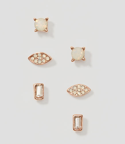 Image of Baguette Crystal Stud Earring Set