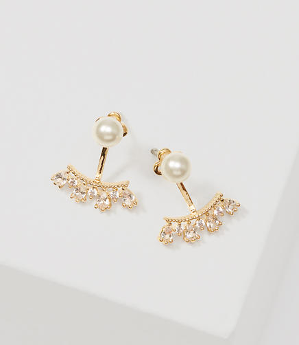 Image of Pearlized Crystal Earrings