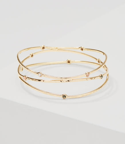 Image of Crystal Stacked Bangle