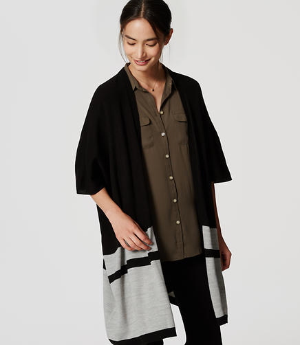Image of Striped Poncho