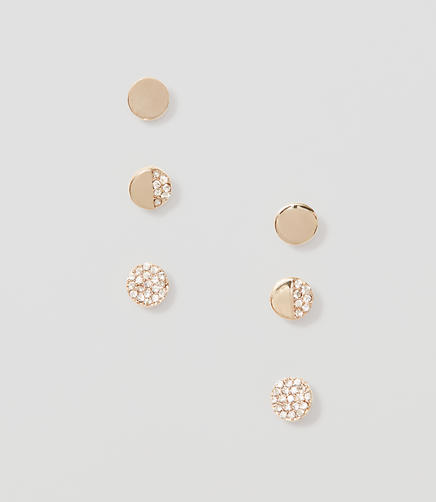 Image of Pave Stud Earring Set