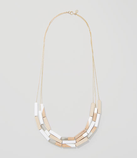 Image of Multistrand Wood Bar Necklace