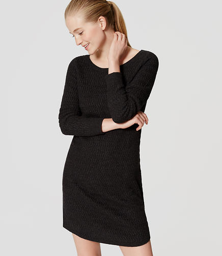 Image of Textured Sweater Dress