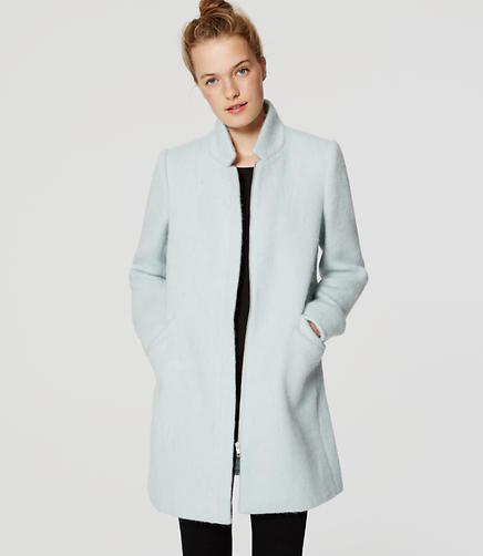 Image of Brushed Stand Collar Coat