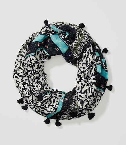Image of Floral Mosaic Infinity Scarf