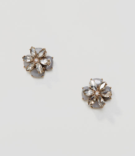 Image of Flower Crystal Stud Earrings