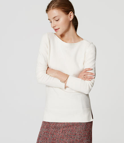 Image of Boatneck Tunic Sweater