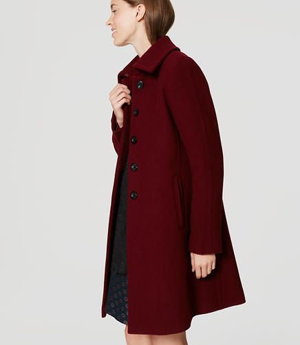 Image of Petite Tab Collar Coat