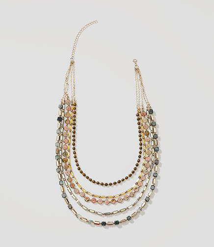 Image of Multistrand Beaded Chain Necklace