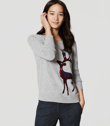 Image of Petite Reindeer Sweater