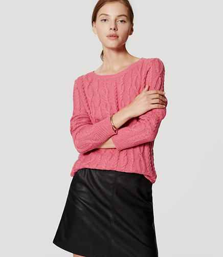 Image of Cable Tunic Sweater
