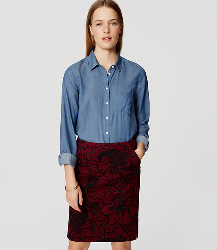 Image of Paisley Pencil Skirt