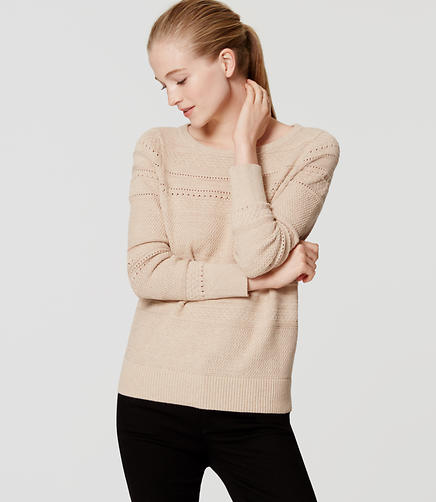 Image of Stitched Stripe Sweater