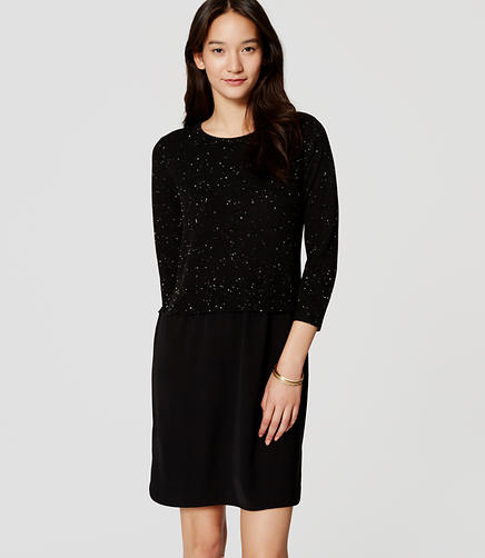 Image of Speckled Two-In-One Sweater Dress