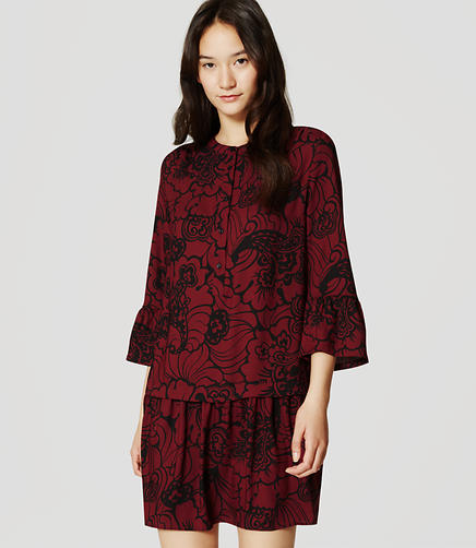 Image of Tall Paisley Lantern Shirtdress