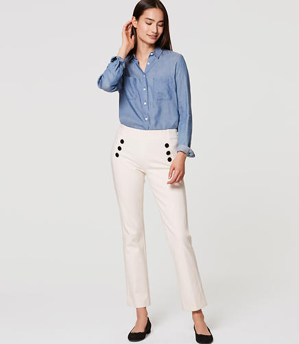 Image of Petite Sailor Kick Crop Pants