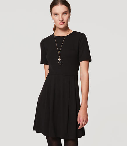 Image of Short Sleeve Flare Dress