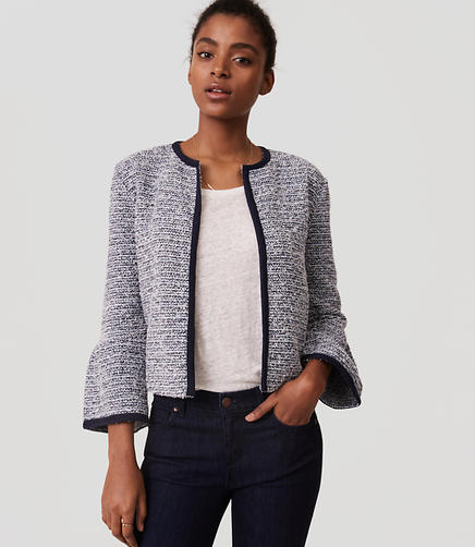 Image of Tweed Bell Sleeve Jacket