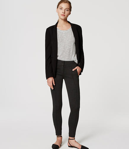 Image of Petite Zip Pocket Pintucked Ponte Leggings
