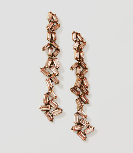 Image of Baguette Chandelier Earrings