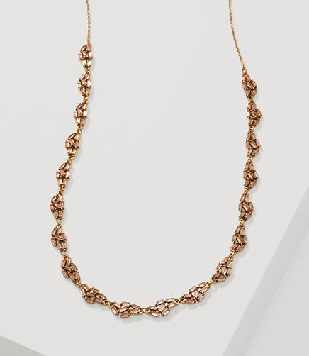 Image of Baguette Crystal Cluster Necklace