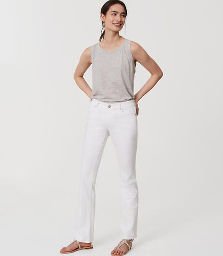 Image of Modern Boot Cut Jeans in White