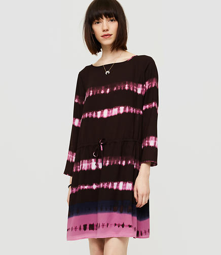 Image of Lou & Grey Shibori Drawstring Dress