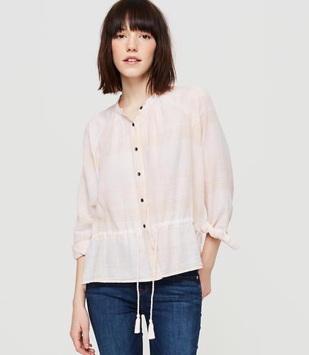 Image of Lou & Grey Drawstring Button Down Shirt