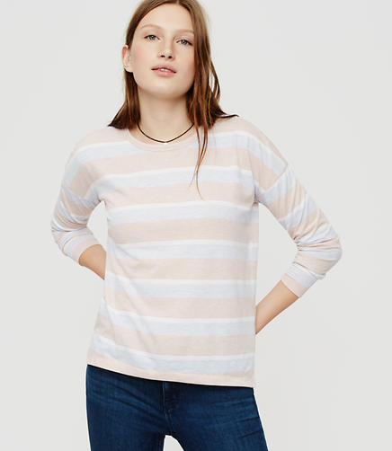 Image of Lou & Grey Striped Drop Shoulder Petalsoft Tee