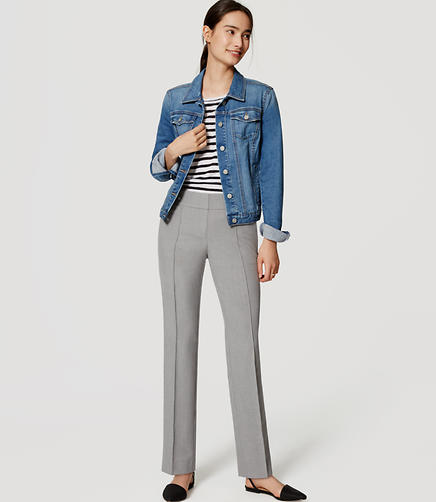 Image of Petite Bi-Stretch Pintucked Straight Leg Pants in Marisa Fit