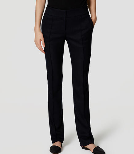 Image of Tall Herringbone Pintucked Straight Leg Pants in Julie Fit