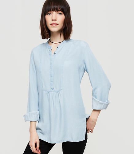 Image of Lou & Grey Chambray Bib Tunic