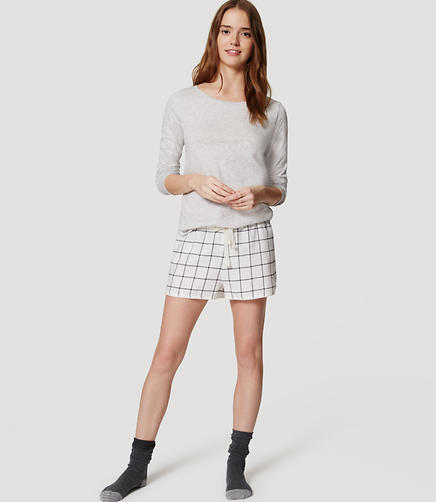 Image of Windowpane Pajama Shorts