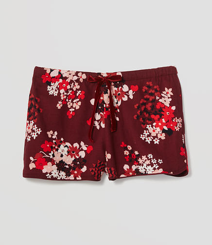 Image of Snow Bloom Pajama Shorts