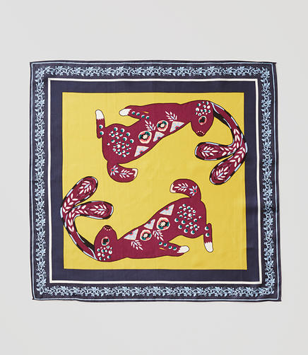Image of Rabbit Square Silk Scarf