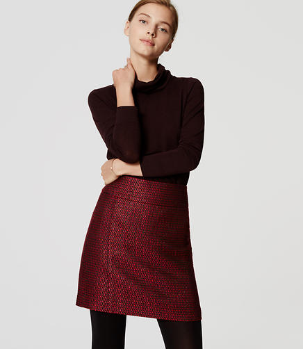 Image of Petite Shimmer Tweed Shift Skirt