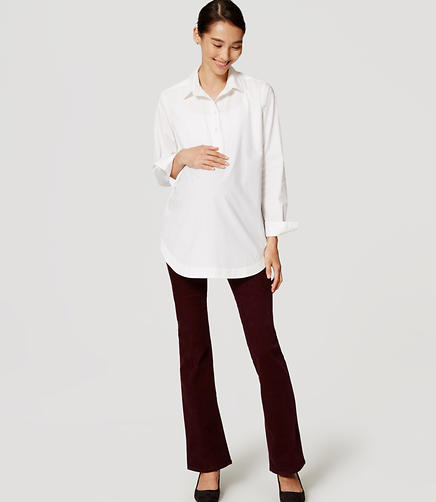 Image of Maternity Boot Cut Corduroy Pants