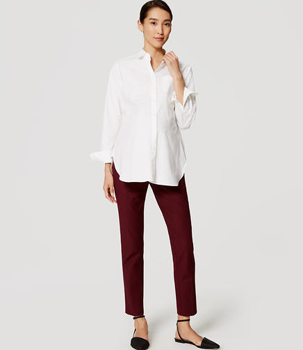 Image of Petite Maternity Essential Skinny Ankle Pants