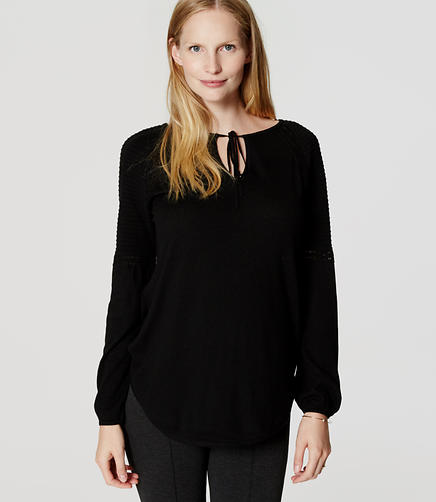Image of Maternity Tie Neck Sweater
