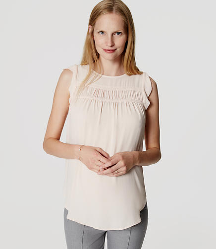 Image of Maternity Smocked Flutter Top