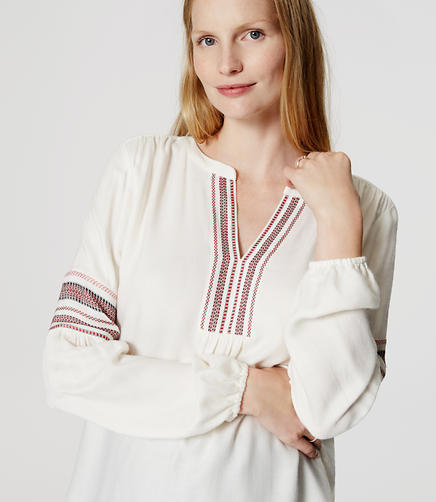 Image of Maternity Striped Boho Blouse