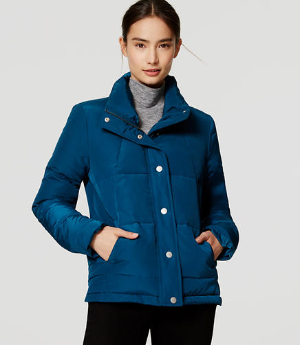 Image of Petite Swing Puffer Coat